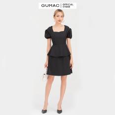 Đầm nữ cổ vuông tay nhún DB720 mẫu mới GUMAC