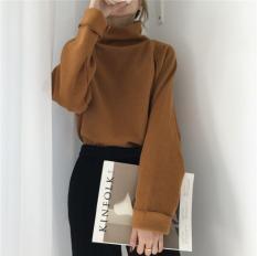 [5 màu] Áo thun gân cổ lọ mùa Thu Đông, style Korea mới nhất, freesize dưới 55kg
