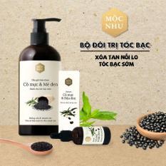 ✅MỘC NHU✅ Bộ đôi dầu gội & serum tóc bạc cỏ mực – Giải pháp cho người tóc bạc sớm