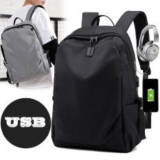 Balo Nam Balo Đựng Laptop Chống Nước Tích Hợp USB Sạc Ngoài Phong Cách