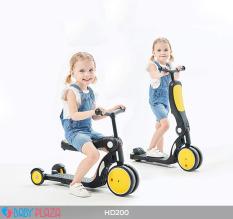Xe đa năng trượt Scooter xe cân bằng xe đẩy cho bé 5 trong 1 Broller BABY PLAZA HD200