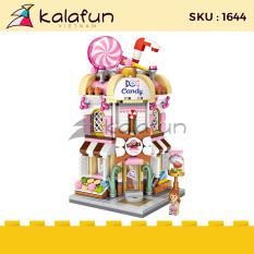 Đồ chơi lắp ráp trẻ em Cửa hàng kẹo ngọt Mini street LOZ 1644