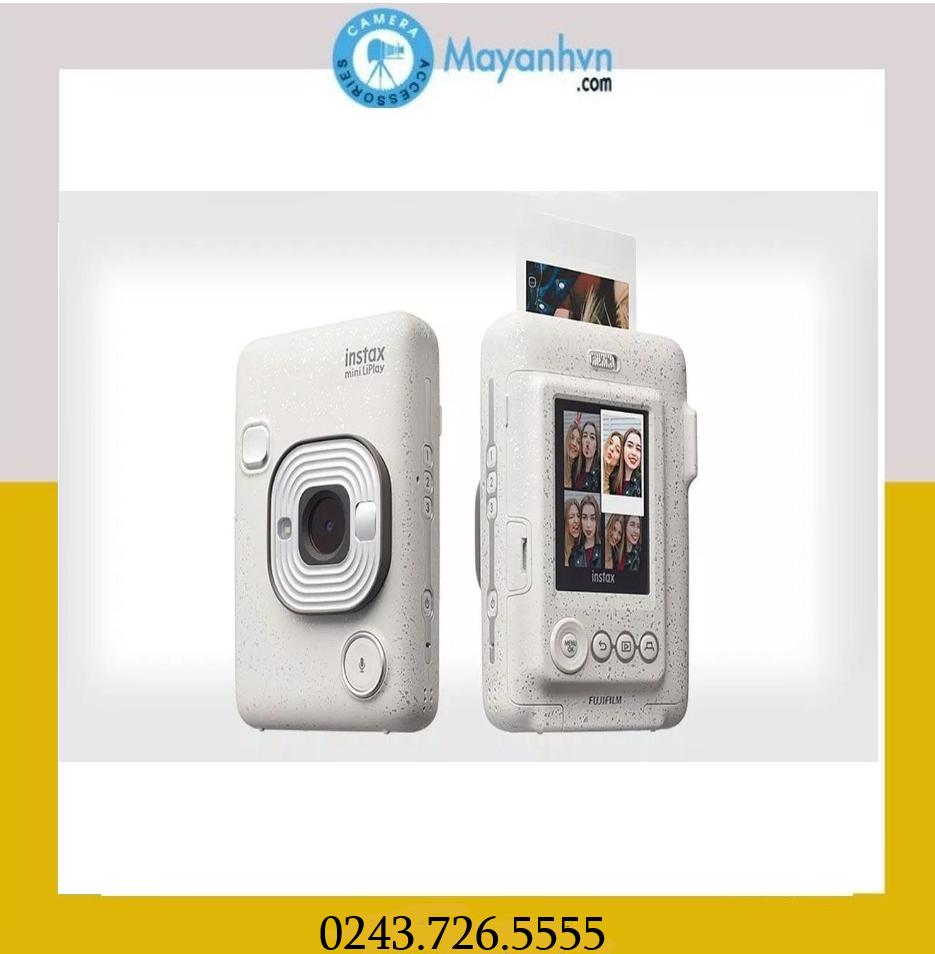Máy ảnh chụp lấy liền Instax Mini LiPlay – màu Stone White (Chính Hãng mới 100%) tặng 1 pack film/ 10 kiểu