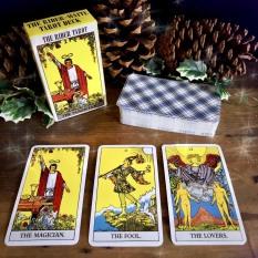 Bộ Bài Tarot , Tarot The Deck Xem Bói Bản 6,5 x10 x3 cm + Kem Túi Nhung Cao Cấp