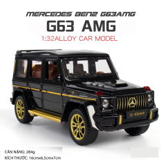 Mô hình xe Mercedes-Benz AMG G63 tỉ lệ 1:32 hãng Chezhi khung kim loại 3 màu Đen Đỏ Trắng