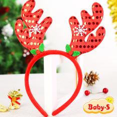 Băng đô Noel sừng tuần lộc đính sequin lấp lánh xinh yêu phù hợp cho mọi lứa tuổi diện mùa Giáng sinh Baby-S – SNOEL015