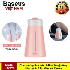 Máy phun sương, khuếch tán tinh dầu đa năng tạo độ ẩm chăm sóc da thương hiệu cao cấp Baseus H380ml dùng trong phòng ngủ, văn phòng làm việc và trên ô tô