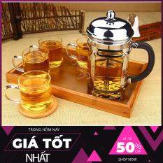[TOP BÁN CHẠY] Bình pha cafe, Bình pha cà phê kiểu pháp 350ml (Bạc), đồ dùng chuyên dụng pha cafe, dụng cụ pha chế coffee dễ dàng sử dụng