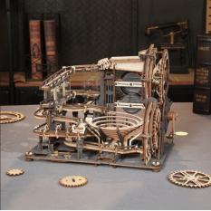 [BẢN QUỐC TẾ TIẾNG ANH] Đồ chơi Lắp ráp gỗ 3D Mô hình Cơ động học Robotime Marble Night City LGA01 Marble Run