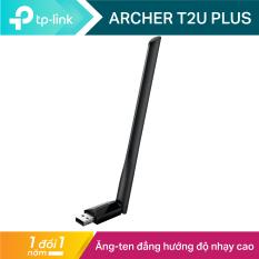 USB wifi TP-Link USB thu sóng wifi công suất cao Chuẩn AC600 Mbps Tăng cường kết nối wifi Archer T2U Plus – USB wifi chính hãng TP-Link bảo hành 2 năm 1 đổi 1