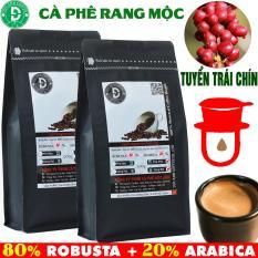1kg cà phê rang mộc gu đậm Thành phần 80% Robusta + 20% Arabica – Cafe Ngon Nguyên Chất Đến Từ Đắk Lắk – 2 gói mỗi gói 500gr – Cam kết nguyên chất – Xay sẵn dùng pha phin – DUC ANH COFFEE thương hiệu cafe rang mộc – cà phê Đức Anh