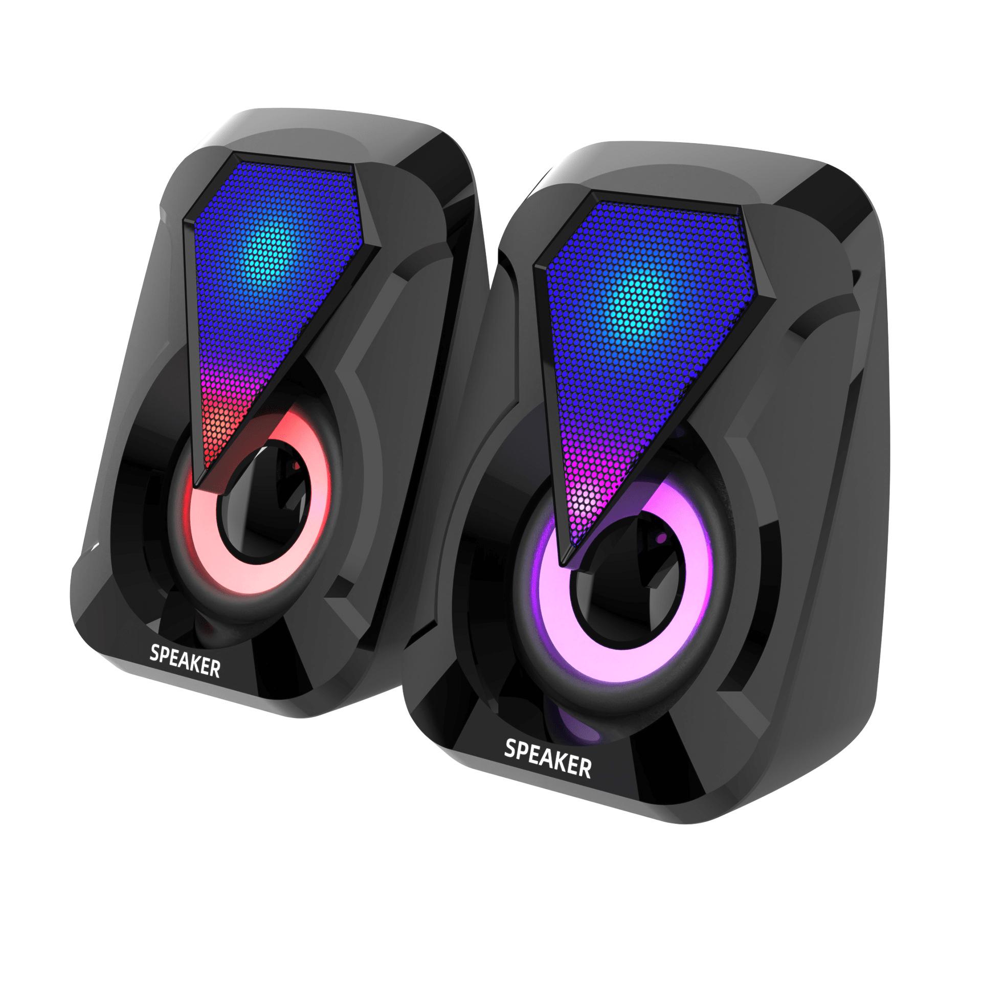 [HCM]Loa vi tính mini 1053 để bàn cao cấp âm thanh siêu trầm có đèn led 7 màu