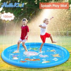 HelloKimi Thảm hơi tròn phun nước vui nhộn giải trí ngoài trời dành cho trẻ em, kích thước 100cm – INTL