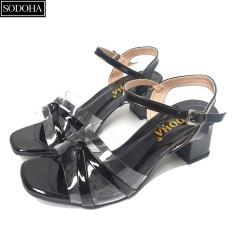 Giày Nữ – Giày dép nữ cao gót SODOHA Đế Cao 5cm Quai Mảnh Điệu Đà – DB2886