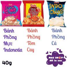 Snack Bánh Phồng Vị Mực Indonexial/Tôm cay/Cá gói 40g – Mực Indonesia