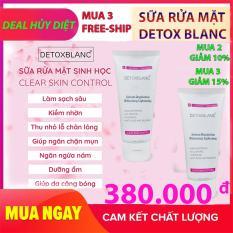 Sữa rửa mặt Detox BlanC – Làm sạch da sinh học, sủi bọt, thải độc tố đa năng Clear Skin Control