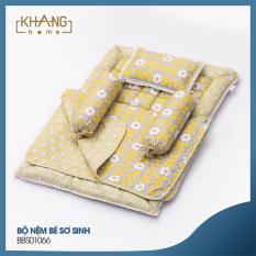 Bộ Nệm Sơ Sinh Khang Home BBS01 – 100% Cotton Thiên Nhiên – Giúp Bé Ngủ Thẳng Lưng Không Cong Vẹo Cột Sống