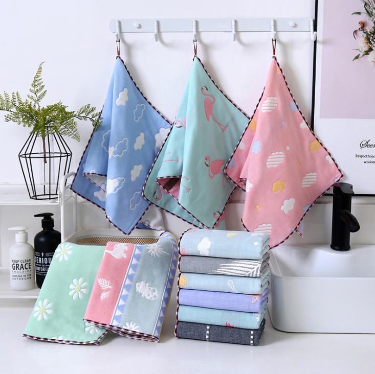 [SET 5] Khăn xô và khăn rửa mặt 6 lớp cho bé, Chất liệu 100% cotton, Kích thước 25×25 cm