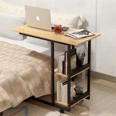 Bàn máy tính bàn phụ bàn nhỏ bàn làm việc gỗ bàn học di động có bánh xe bàn máy tính gỗ nhỏ dùng trên giường di động bàn phòng ngủ phòng làm việc bàn máy tính đa năng sáng tạo hiện đại Bắc Au