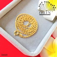 Dây chuyền xoắn khóa tròn bền màu 24 sang trọng Orin D4420