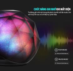 Loa bluetooth 7màu COLOR BALL, màu sắc có thể thay đổi, âm thanh mạnh, chất lượng âm thanh tốt, đọc được thẻ nhớ, cảm ứng được ở khoảng cách xa