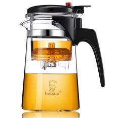Ấm pha trà, bình lọc trà thủy tinh chịu nhiệt Heisou, dung tích 750ml