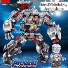 Lắp ráp xếp hình siêu anh hùng 3d131 -2 : bộ giáp Iron Man Hulkbuster warmachine 775 mảnh