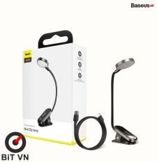 Đèn Đọc sách mini Pin sạc Baseus Comfort Reading Mini Clip Lamp ( Dịu mắt, Chân kẹp, 3 Mức sáng, 350mAh, 24h sử dụng) – BiT VN