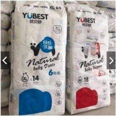 Bỉm Yubest natural dán đủ size l78 xl84 xxl72, chất liệu mềm mại, lành tính, thấm hút tốt, thoải mái cho bé bò lăn và vui chơi, an toàn tuyệt đối cho trẻ