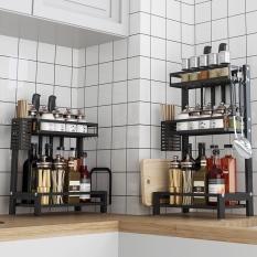 Kệ gia vị 2 tầng inox sơn tĩnh điện, kệ gia vị đa năng, kệ để đồ phòng bếp, kệ nhà bếp, kệ gia vị 3 tầng