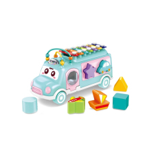 Xe buýt đồ chơi thả hình khối có đèn phát nhạc mã MX009 giúp bé phát triển trí não