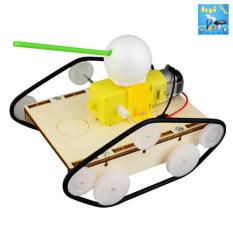 Xe Tăng Gỗ DIY – Đồ chơi thông minh – Đồ chơi khoa học – Đồ chơi mô phỏng – Đồ chơi STEAM – Đồ chơi lắp ráp – Đồ Chơi DOPI – Thí nghiệm khoa học