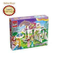 Xếp hình lego, Xếp hình enlighten 2602 mô hình lâu đài dành cho bé gái