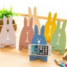 Giá đỡ điện thoại gỗ ép hình thỏ (màu ngẫu nhiên)