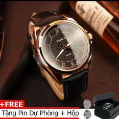 Đồng hồ nam thời trang dây da cao cấp Yazole 336