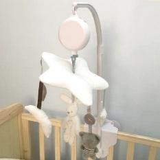 Bộ treo nôi cũi tự xoay, phát nhạc kích thích thị giác cho trẻ sơ sinh và trẻ nhỏ – Thanh treo nhựa PU không mùi, gấu bông mềm mại. KAWAII HOME