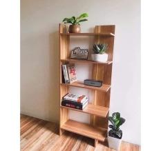 Kệ gỗ trang trí, kệ góc tường gỗ 5 tầng [giao màu gỗ]