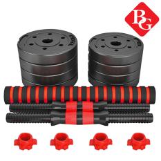 BG Bộ tạ tay đa năng cao cấp dễ dàng tháo lắp bọc nhựa đen 10KG-20KG-30KG-40KG