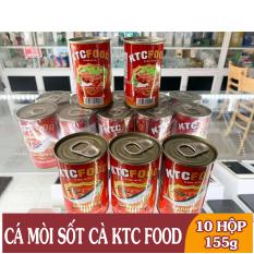 10 Hộp Cá Mòi Sốt Cà KTC Food Kiên Giang, Vị Chua Ngọt, Siêu Ngon – Hộp 155g – Ngon Bổ Dưỡng, Vị Khó Cưỡng – Tốt Cho Sức Khỏe – Cam Kết Không Hóa Chất Độc Hại – Sản Xuất Ở Việt Nam