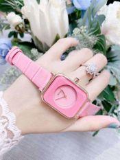 Đồng hồ nữ Guou dây da mặt vuông siêu xinh, thời trang, trẻ trung