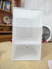 Combo 3 Hộp Đựng Giày Nắp Nhựa Cứng Lắp Ráp Thông Minh Size Lớn (Tặng Gói Hút Ẩm), Tủ Giày Lắp Ráp Thông Minh