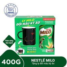 Thức uống lúa mạch Nestlé MILO hộp 400g – Tặng ly đổi màu kỳ ảo