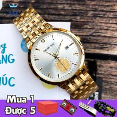 Đồng hồ nam Baishuns 6970 vàng mạ PVD không phai màu, thép không gỉ, chống nước, chống xước tốt [SIÊU KHUYẾN MẠI] TẶNG đá tỳ hưu + chốt đục mắt + TẶNG 2 PIN AG4 khi mua