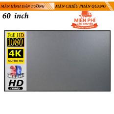 Màn hình máy chiếu 16:9 Dán tường phản quang chống lóa 60 inch cho gia đình