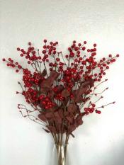 Cành Đào Đông (Cherry) Trang Trí Tết- Hoa Giả Cao Cấp, Trang Trí Nhà Cửa, Văn Phòng