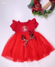 Váy tuần lộc đón noel cực xinh cho bé gái