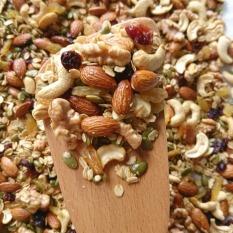 Granola không đường 80% hạt, 20% yến mạch (túi 500gr), Ngũ cốc ăn kiêng lành mạnh, ngũ cốc hạt dinh dưỡng mix
