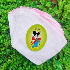 Gói 10 chiếc khăn sữa FANY 4 lớp nhỏ 25×28 cm với chất liệu 100% cotton mềm mại và thấm hút tốt – TINI KIDS PLAZA