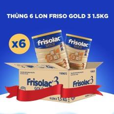 6 lon Sữa Bột Friso Gold 3 1.5kg cho trẻ từ 1-2 tuổi – HSD tháng 10/2022