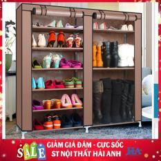 Tủ vải đựng giày dép đa năng 6 tầng 12 ngăn, kệ đựng giày dép – GDTRUONG36